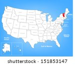 vector map of the united states ... | Shutterstock .eps vector #151853147