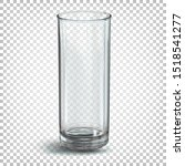 glass transparent empty glass... | Shutterstock .eps vector #1518541277