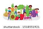 cute happy children smiling... | Shutterstock .eps vector #1518551921