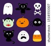 happy halloween. candy corn ...   Shutterstock .eps vector #1518553307