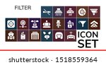 filter icon set. 19 filled... | Shutterstock .eps vector #1518559364