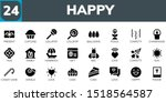 happy icon set. 24 filled happy ...   Shutterstock .eps vector #1518564587