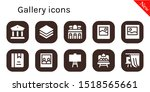 gallery icon set. 10 filled... | Shutterstock .eps vector #1518565661