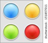 round buttons | Shutterstock . vector #151857011