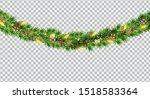 wide christmas border garland...   Shutterstock .eps vector #1518583364