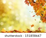 autumn background  | Shutterstock . vector #151858667