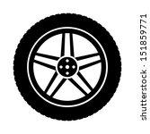 icon of automobile wheel | Shutterstock .eps vector #151859771