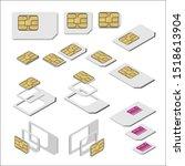three types of sim card  ... | Shutterstock .eps vector #1518613904