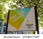 Small photo of Birmingham, UK - September 20th 2019: A sign advertising the Birmingham 2022 Commonwealth Games in the city of Birmingham in the UK.