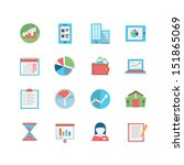 business icon set | Shutterstock .eps vector #151865069