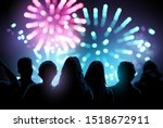 a large crowd of people... | Shutterstock .eps vector #1518672911