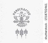vintage label design with boho...   Shutterstock .eps vector #1518702461