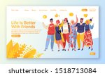 concept for landing page on... | Shutterstock .eps vector #1518713084