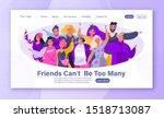 concept of friendship  moral... | Shutterstock .eps vector #1518713087