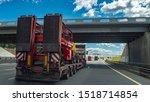 fixed low loader trawl. truck... | Shutterstock . vector #1518714854