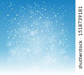 simple snowfall blue background.... | Shutterstock .eps vector #1518739181