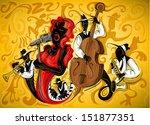 abstract jazz art 3  vector    Shutterstock .eps vector #151877351