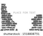 silhouette of a ruined wall ... | Shutterstock .eps vector #1518808751