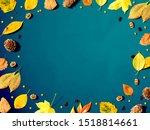 halloween and autumn leaf...   Shutterstock . vector #1518814661