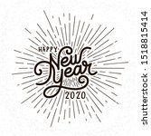 happy new year lettering with... | Shutterstock .eps vector #1518815414