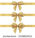 set of decorative golden bows... | Shutterstock .eps vector #1518820421