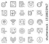 smart socket outline icons set. ... | Shutterstock .eps vector #1518823967