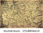 old grunge map of europe | Shutterstock . vector #1518846614