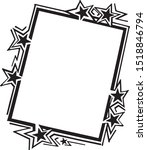 ad frame with stars   retro... | Shutterstock .eps vector #1518846794