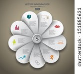 petals for your presentation of ... | Shutterstock .eps vector #151885631