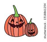 trick or treat   happy halloween | Shutterstock .eps vector #1518861254