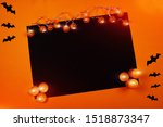 festive black and orange... | Shutterstock . vector #1518873347