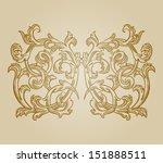 vector vintage baroque... | Shutterstock .eps vector #151888511