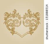 vector vintage baroque... | Shutterstock .eps vector #151888514