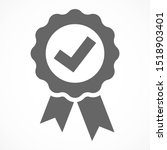 approved icon. medal  award... | Shutterstock .eps vector #1518903401