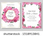 greeting card for wedding... | Shutterstock .eps vector #1518913841
