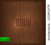 wood texture. vector background - stock vector