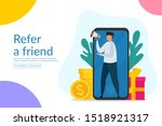 refer a friend vector...
