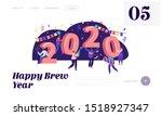 happy new year celebration... | Shutterstock .eps vector #1518927347