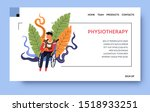 physiotherapy and rehab clinic... | Shutterstock .eps vector #1518933251