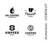 coffee logo template set....   Shutterstock .eps vector #1518936137
