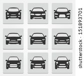 Stock vector car front icons 151893701