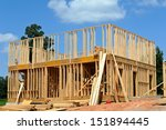 A New House under Construction  - stock photo
