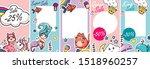 animal kid kawai blogger baby... | Shutterstock .eps vector #1518960257