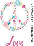 pacific sign. hippie. children... | Shutterstock .eps vector #1518962777