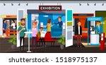 business exhibition flat vector ...   Shutterstock .eps vector #1518975137