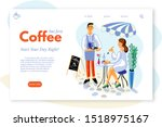 coffee drinks vector web page... | Shutterstock .eps vector #1518975167