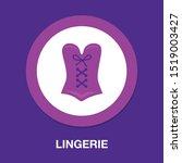 corset icon  vector lingerie ... | Shutterstock .eps vector #1519003427