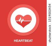 vector heartbeat icon  health... | Shutterstock .eps vector #1519003454