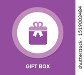 gift box icon   birthday present | Shutterstock .eps vector #1519003484