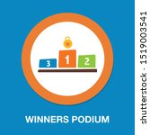 winners podium icon  first... | Shutterstock .eps vector #1519003541
